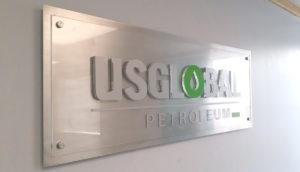 US Global Petroleum office Sign
