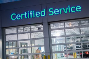 Certified Service Exterior Sign